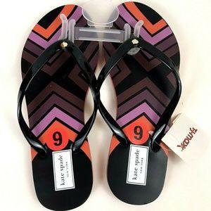 New Kate Spade Nanette Aztec Flip Flops